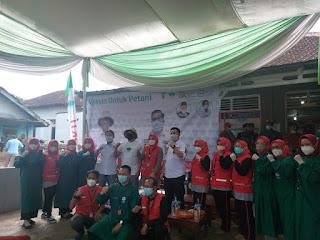 HKTI Provinsi Lampung Bersama Apindo dan Pemkab Pesawaran Gelar Vaksinasi