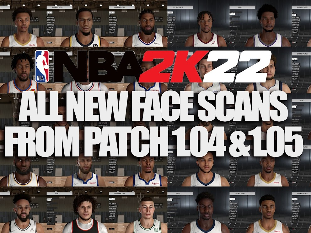 NBA 2K22 ALL NEW FACE SCANS / CYBERFACES FROM ALL PATCHES