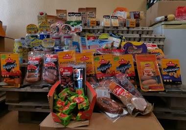 Esam saņēmuši Depo DIY SIA ātri realizējamās pārtikas produktu ziedojumu.