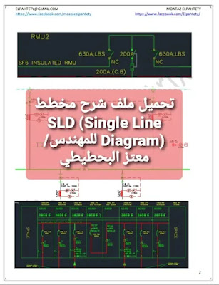 تحميل ملف شرح مخطط SLD (Single Line Diagram) للمهندس/معتز البحطيطي