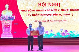 Quận Hải An tiếp nhận kinh phí do Tổng Công ty Tân cảng Sài Gòn hỗ trợ