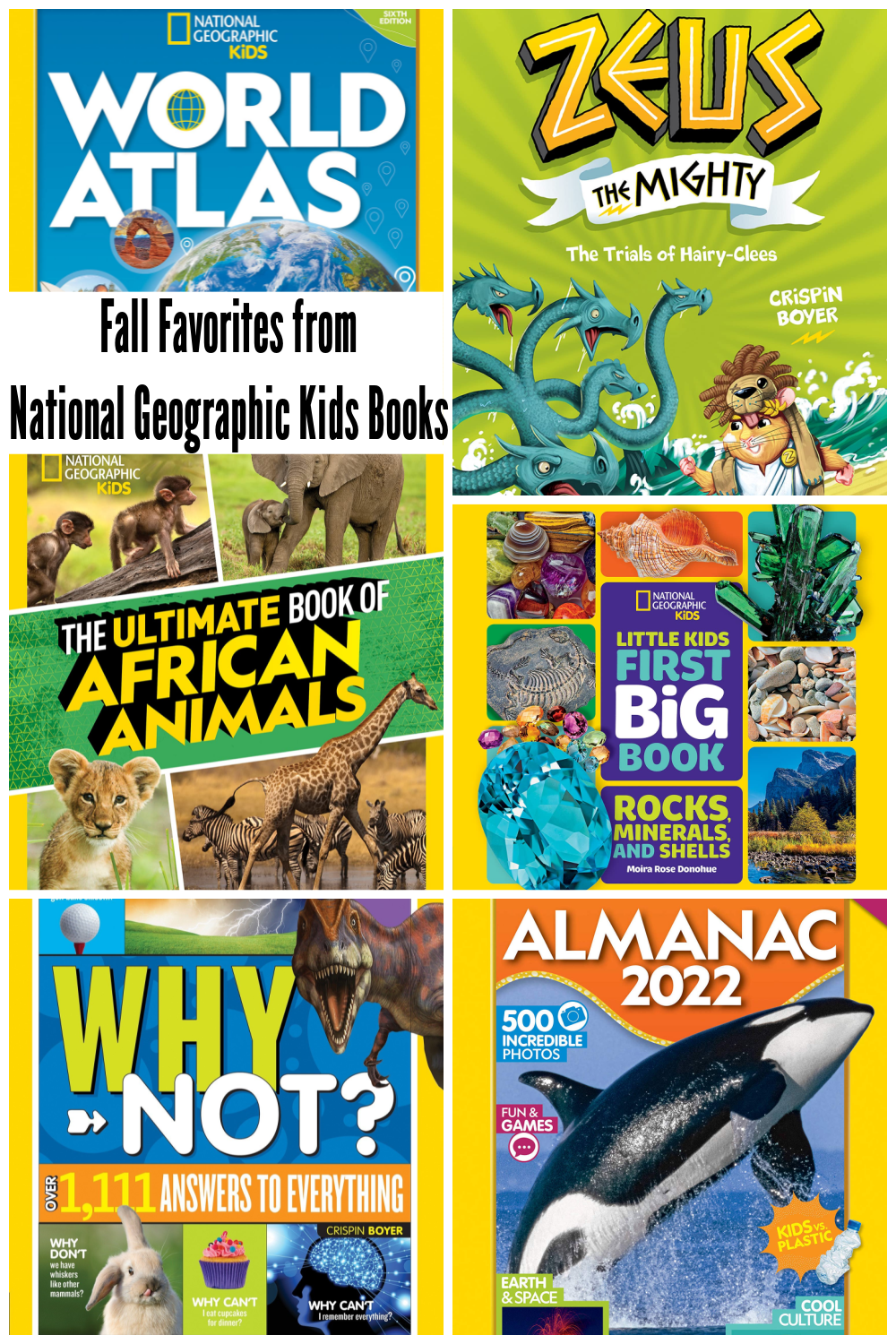 Fall Favorites from National Geographic Kids Books