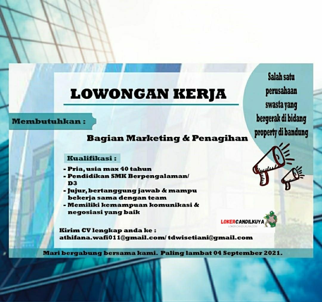 Lowongan Kerja Marketing & Penagihan