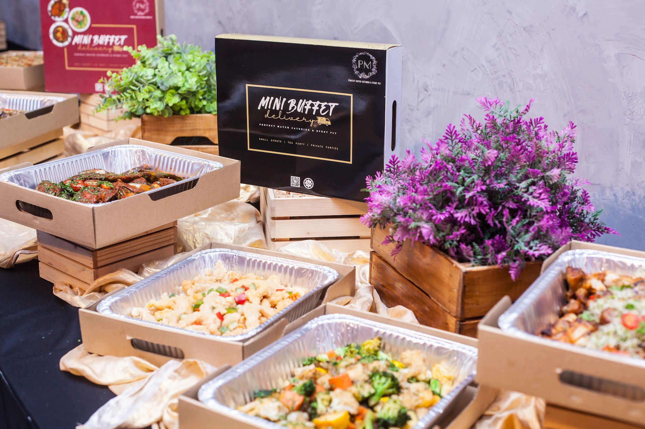 perfect match catering: mini buffets to fill all your private event catering needs