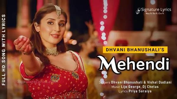 Mehendi Te Vavi Lyrics - Mehendi Song - Dhvani Bhanushali | Gurfateh Prizada | Vishal Dadlani