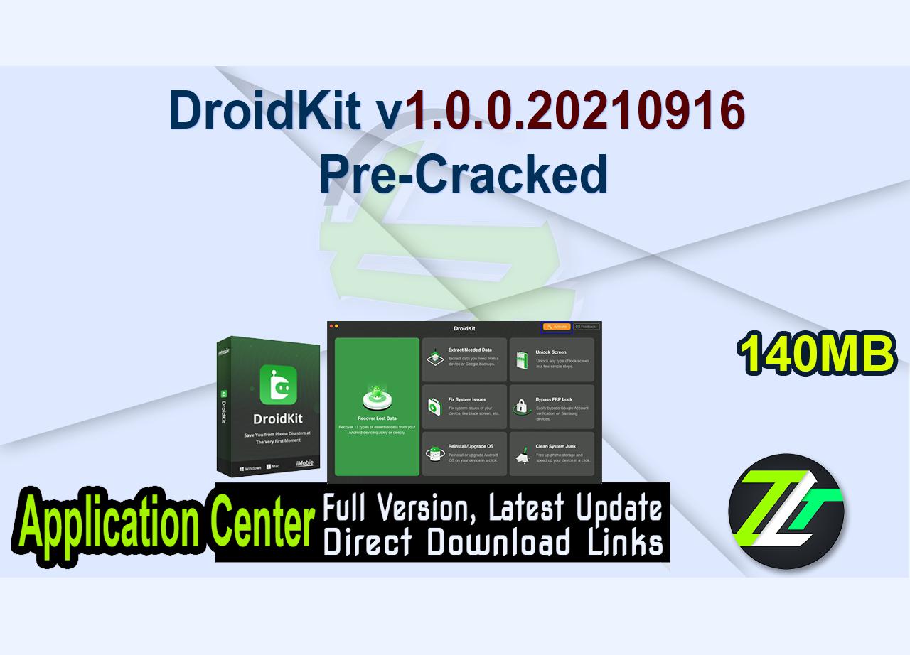 DroidKit v1.0.0.20210916 Pre-Cracked