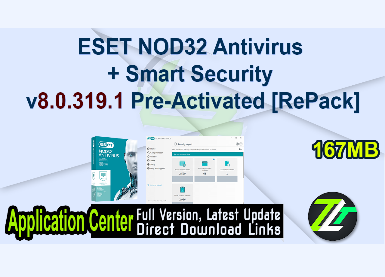 ESET NOD32 Antivirus + Smart Security v8.0.319.1 Pre-Activated [RePack]