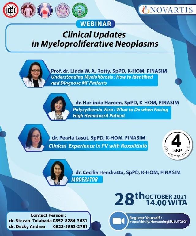 "(FREE4 SKP IDI) Webinar ""Clinical Updates in Myeloproliferative Neoplasms""."