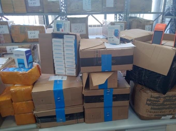 Operação apreende R$ 775 mil em produtos sem nota fiscal em empresas de logística no RN