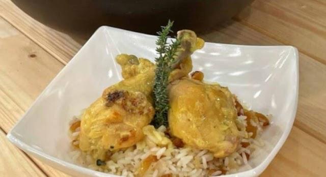 Κοτόπουλο με θυμάρι, μέλι και σάλτσα μουστάρδας