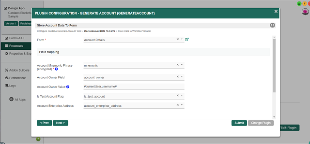 Configure Cardano Generate Account Tool - Page 2