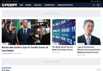 Foxify - Premium Advanced Blogger Template Free Download