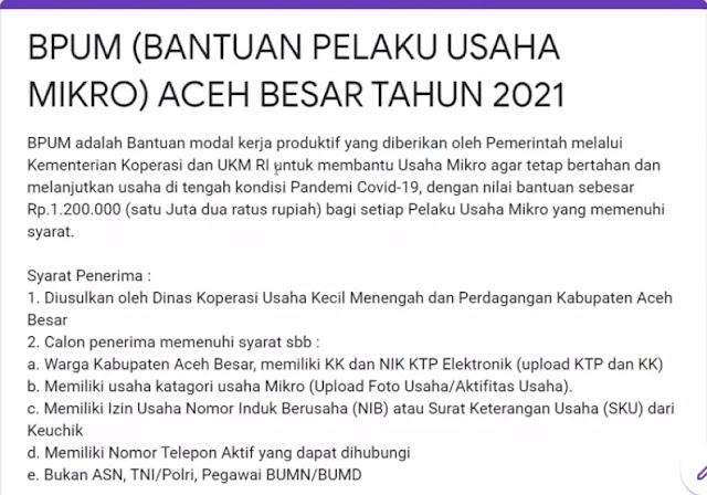 BPUM Kabupaten Aceh Besar