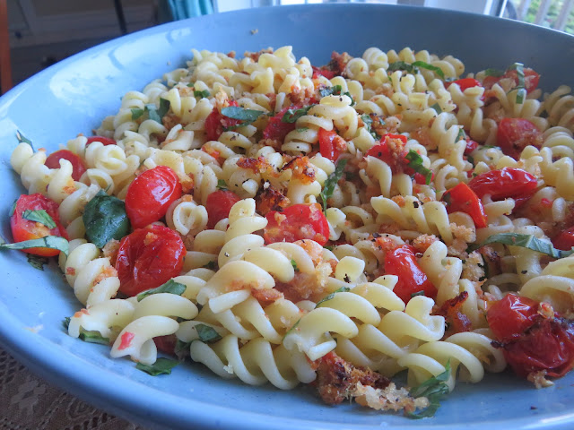 Pasta with Roasted Cherry Tomatoes & Fresh Basil
