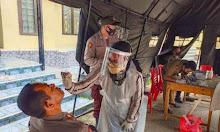 Personel Polres Enrekang Lakukan Tes Swab Antigen