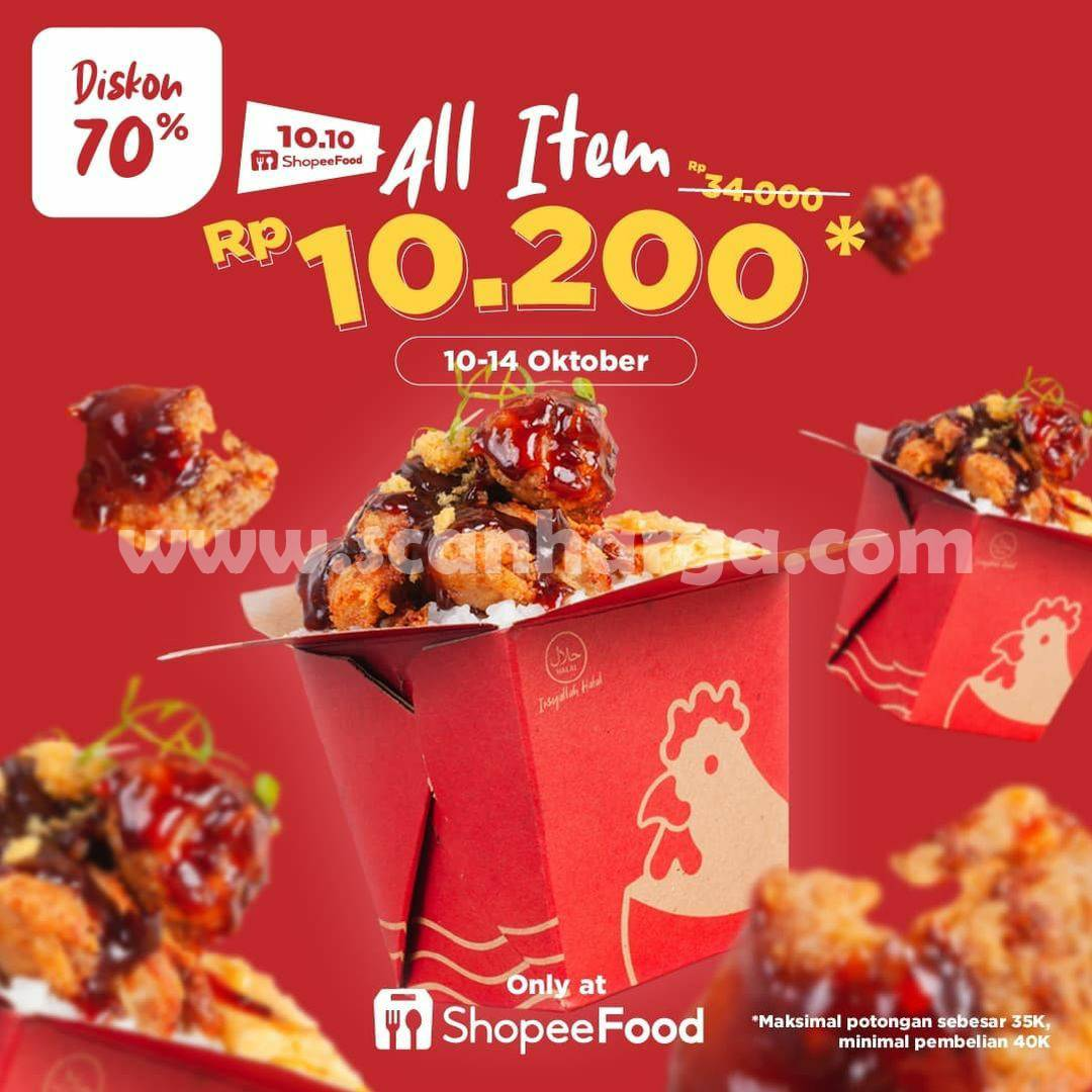 Promo Chicken Pao ShopeeFood 10.10 Diskon 70% All Item