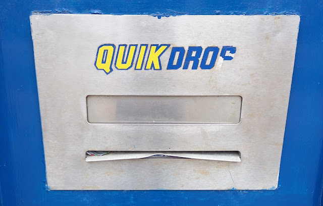 QuikDrop box at the former Blockbuster Video Express store in Clacton-on-Sea, Essex