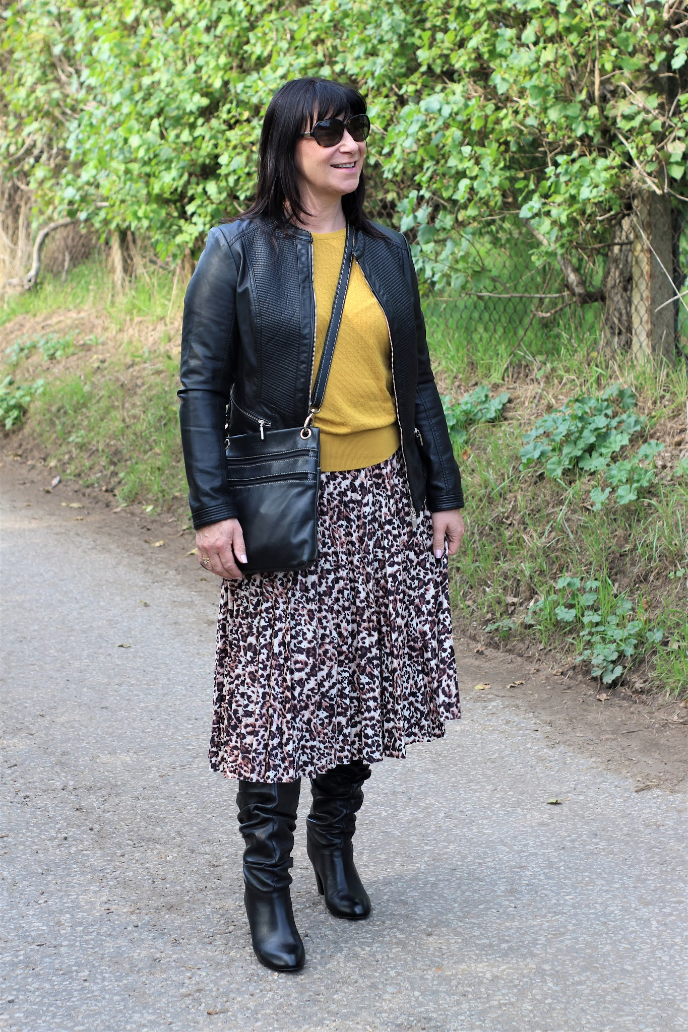 Leopard with Mustard & Black.
