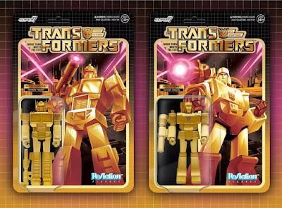 Target Exclusive Transformers G1 Golden Lagoon Variant Optimus Prime & Megatron ReAction Figures by Super7