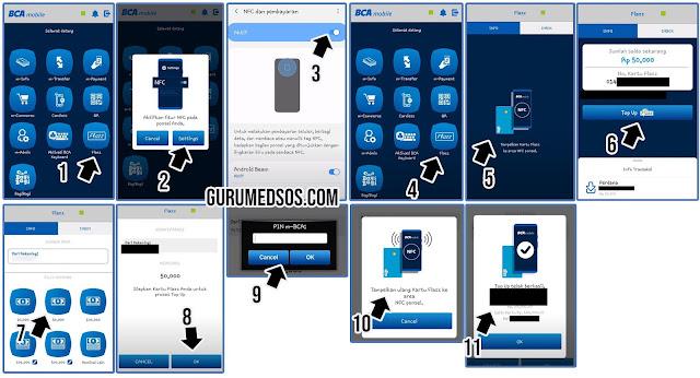Cara Top Pp Flazz di BCA Mobile