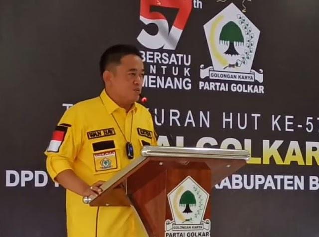 HUT Ke-57 Partai Golkar, Wanhay Ajak Kader Rapatkan Barisan