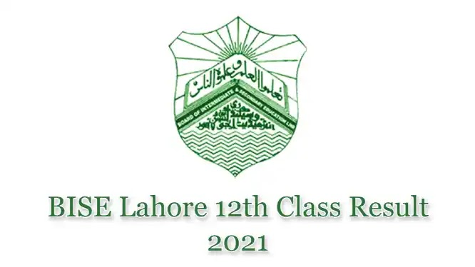 BISE Lahore HSSC Inter 12th Class FSc FA Result 2021