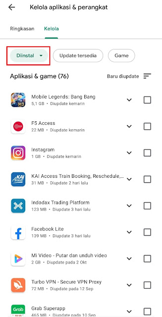 Cara Melihat Daftar Aplikasi yang Pernah Diinstall atau Sudah Diuninstall Melalui Play Store