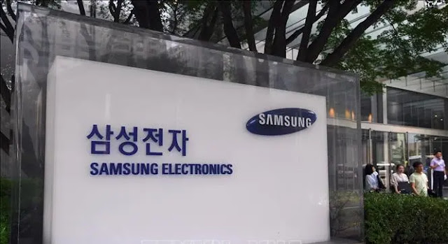 The logo of Samsung Electronics on a building in Seoul, South Korea. Photo: AFP