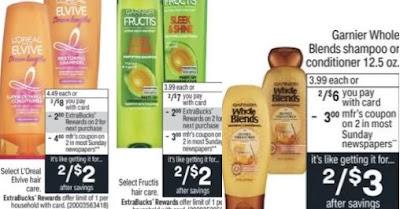 FREE L'Oreal & Garnier Shampoo CVS Deals 8/22-8/28