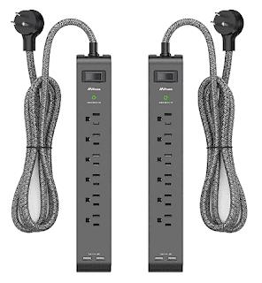 $17.84, Mifaso 2 Pack Surge Protector Power Strip with 6 Outlets