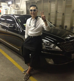 Yoo Hye-yeon's hubby PSY with a car