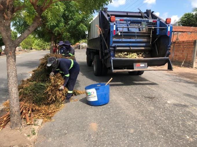 Prefeitura promove limpeza urbana em vias públicas de Santana do Maranhão