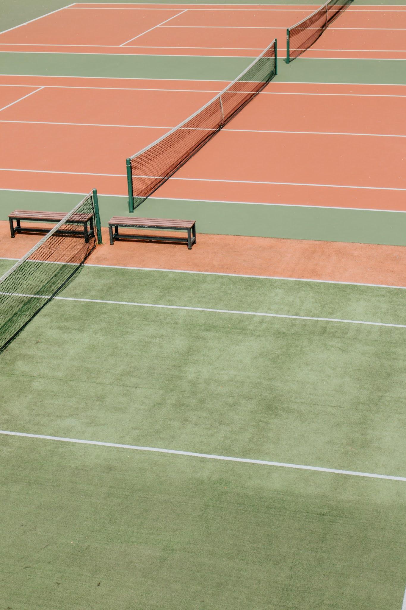 Tennis court lawn