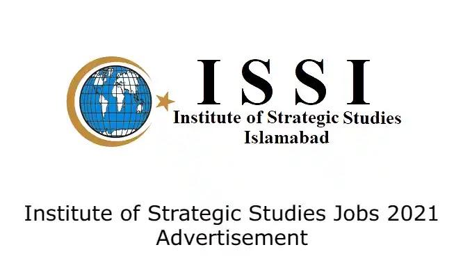 Institute of Strategic Studies Jobs 2021 Advertisement