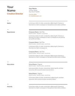 Swiss Google docs resume template
