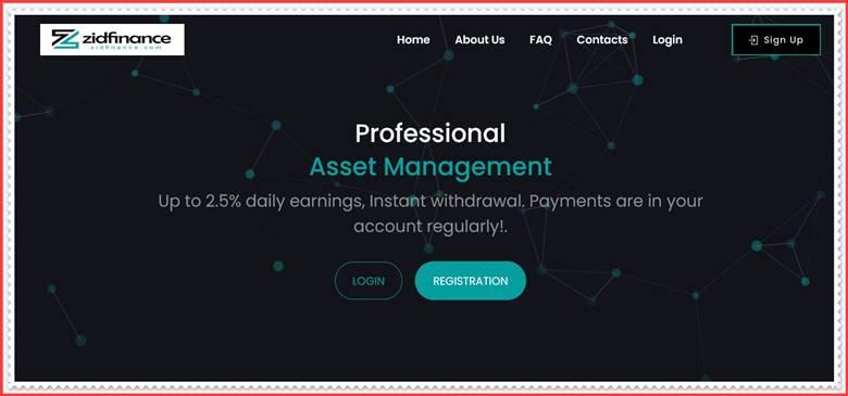 Мошеннический сайт zidfinance.com – Отзывы, развод, платит или лохотрон? Мошенники