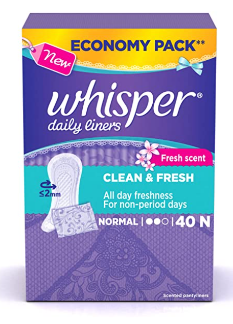 Whisper Clean and Fresh Daily Liners