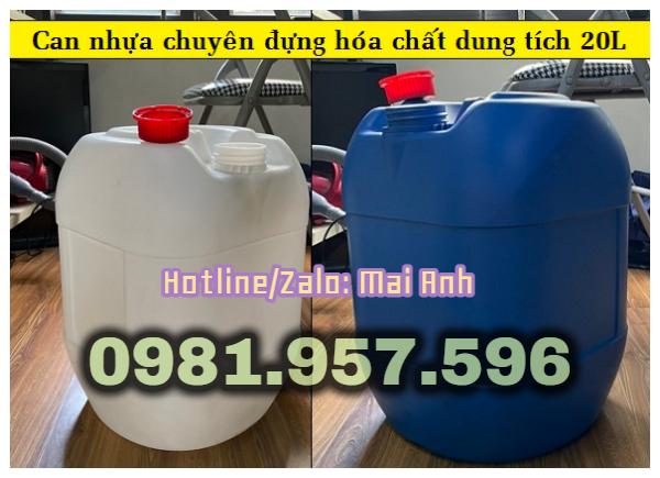 Can nhựa 20L có seal, can nhựa HDPE 20L, can hóa chất tại Hà Nội