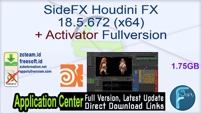 SideFX Houdini FX 18.5.672 (x64) + Activator Fullversion