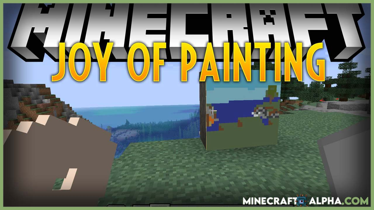 Minecraft Joy of Painting Mod 1.17.1 (Mix Colors, Draw Paintings)
