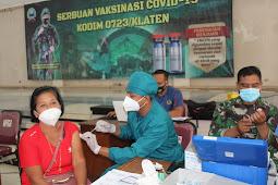 Kodim Klaten Kembali Lakukan Serbuan Vaksinasi Covid 19