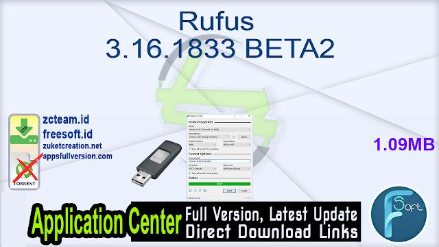 Rufus 3.16.1833 BETA2