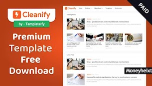 Cleanify Premium Blogger Template Free Download