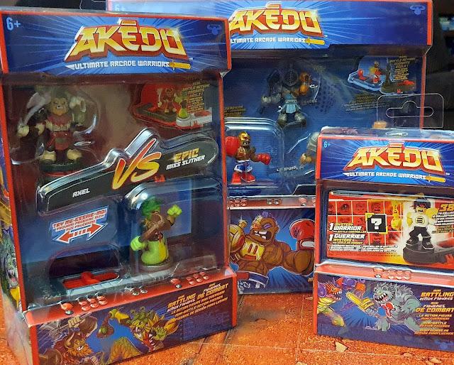 Ad   Review: Akedo - Ultimate Arcade Warriors 3 packs shown unpoened