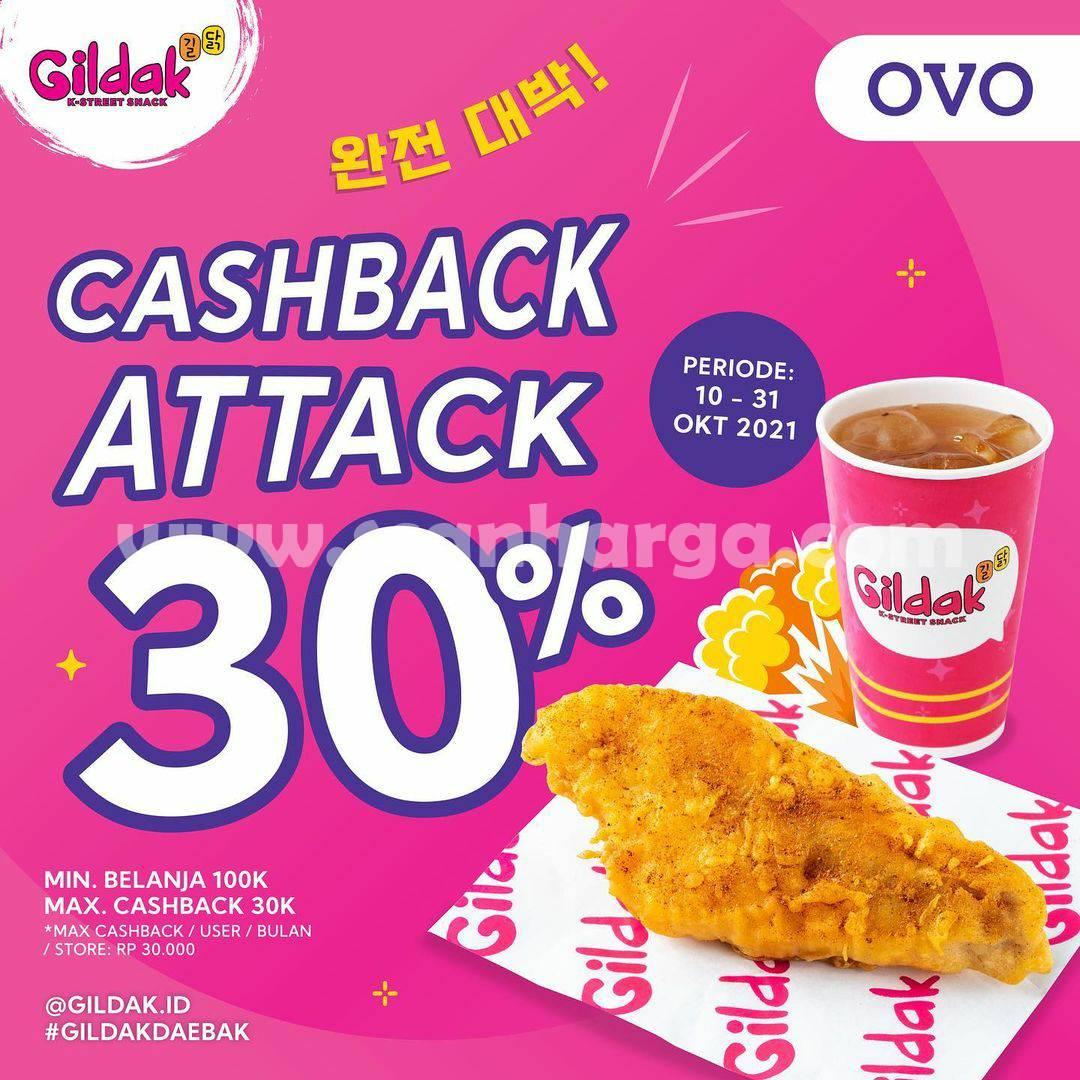 Promo GILDAK CASHBACK ATTACK 30% Transaksi pakai OVO