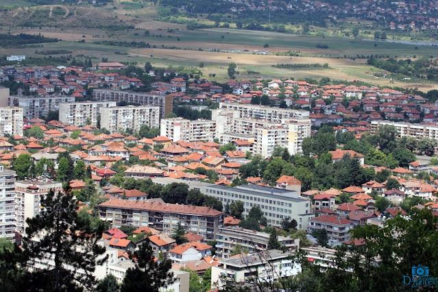 Панорамна снимка на град Кюстендил