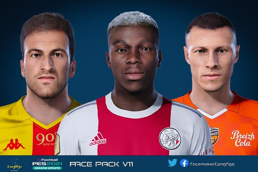Facepack V11 2021 For eFootball PES 2021