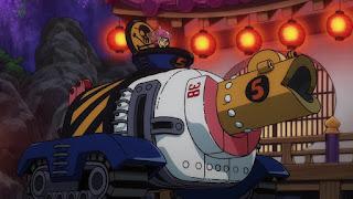 ワンピースアニメ 988話 ワノ国編   チョッパー かわいい ブラキオタンク5号   ONE PIECE Tony Tony Chopper