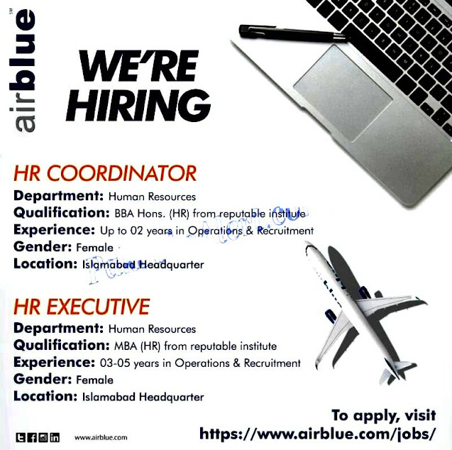 AirBlue Latest Jobs 2021 – Latest Careers Opportunity in AirBlue -online Apply