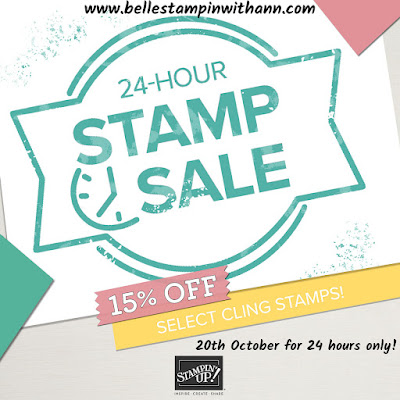 Stampin' Up® 24 Hour Stamp Sale on Cling Stamps October 20th